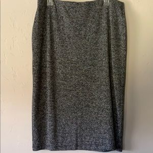 Gray soft and stretchy pencil skirt